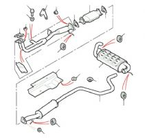 1.8 Petrol K Series 16v Exhaust System To VIN YA999999